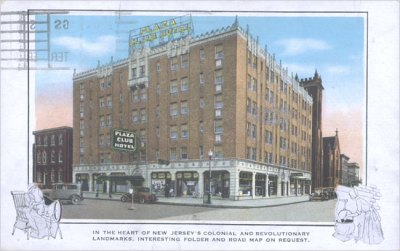 Plaza Club Hotel Postcard